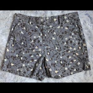 Gap Floral Chambray Denim Tailored Shorts